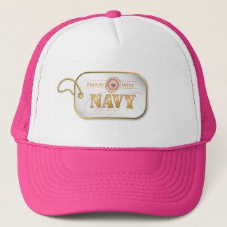 ピンク海軍妻のドッグタッグ キャップ
