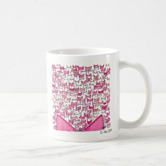 ピンク猫耳のマグ コーヒーマグカップ