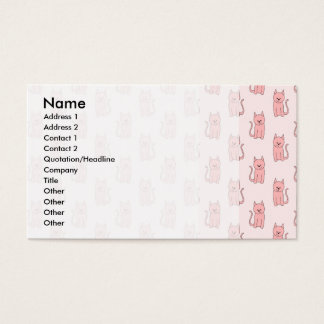 ピンク猫。 パターン 名刺