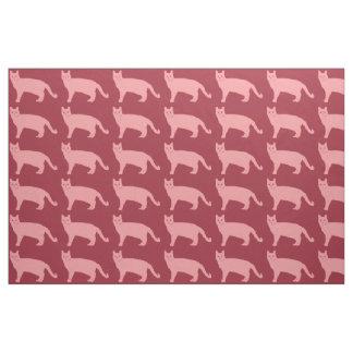 ピンク猫 ファブリック