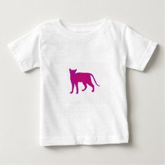 ピンク猫 ベビーTシャツ