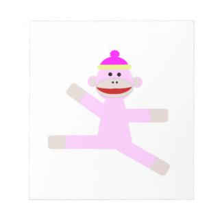ピンク猿 ノートパッド