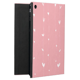 ピンク背景と白ハートライン