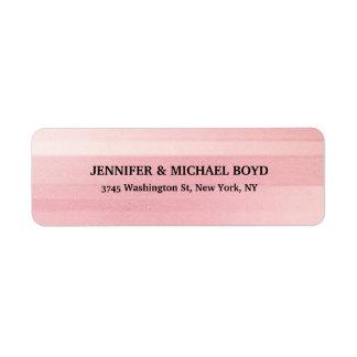 ピンク色のレトロのスタイリッシュでクラシカルな家族 ラベル