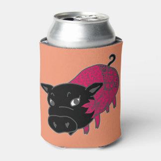 ピンク色の黒豚のチェルシー 缶クーラー
