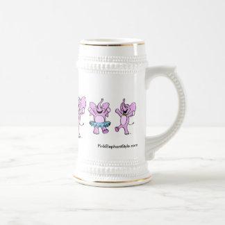 ピンク象のロゴステイン ビールジョッキ