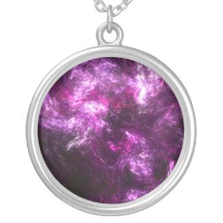 ピンク象の星雲 シルバープレートネックレス