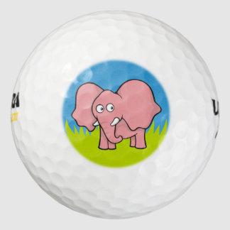 ピンク象の漫画 ゴルフボール