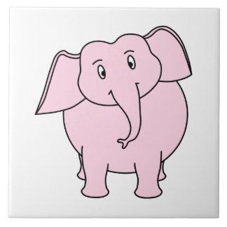 ピンク象の漫画 タイル