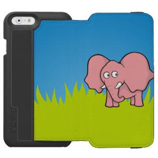 ピンク象の漫画 INCIPIO WATSON™ iPhone 6 ウォレットケース