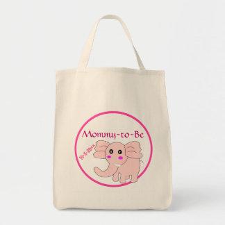 ピンク象はベビーシャワーお母さんにです トートバッグ