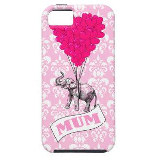ピンク象を持つミイラ iPhone SE/5/5s ケース