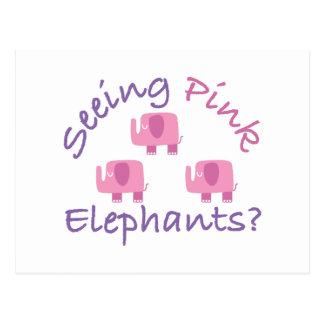 ピンク象を見ることか。 ポストカード