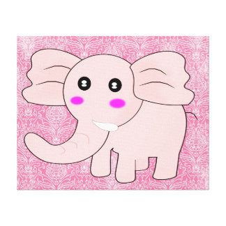 ピンク象 キャンバスプリント