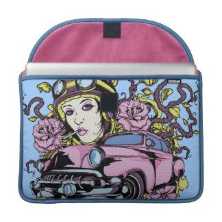ピンク車 MacBook PROスリーブ