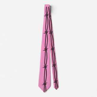 ピンク2の有刺鉄線 ネクタイ