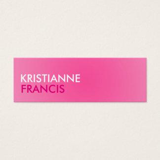 ピンク2の調子の小型カード スキニー名刺