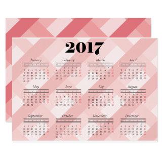 ピンク2017のカレンダーカード カード