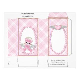 ピンク|くま|ピンチ|箱|パーティ|好意|赤ん坊|シャワー