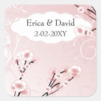 ピンク|さくらんぼ|花|封筒|シール