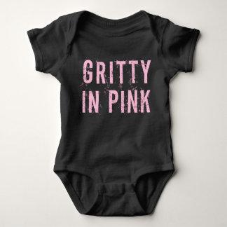 ピンク-ベビーのジャージーのボディスーツ(黒)で砂のよう ベビーボディスーツ