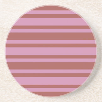 ピンク/ラズベリーのストライプでカスタムなコースター コースター