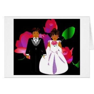 """""""ピンク ラベンダー 上がりました II """" 結婚 ノート カード カード"""