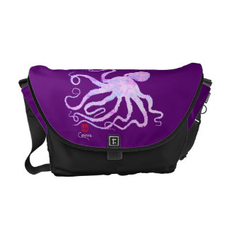 ピンク-中型のメッセンジャーバッグのタコ6 メッセンジャーバッグ