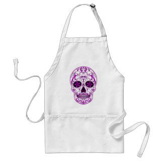 ピンク-死んだ砂糖のスカルの日のショッキングピンク スタンダードエプロン