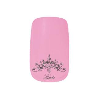 ピンク、王冠を持つ花嫁、 ネイルアート