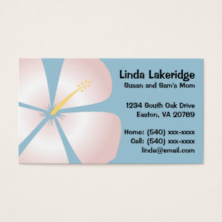 ピンク/白いハイビスカスの花のお母さんの接触カード 名刺