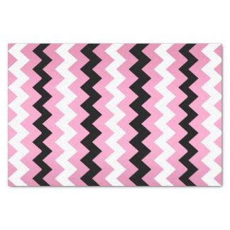 ピンク、白黒シェブロン 薄葉紙