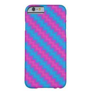 ピンク、青いマゼンタのターコイズのシェブロンパターン BARELY THERE iPhone 6 ケース