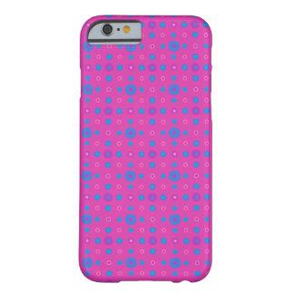 ピンク、青いマゼンタの予測できない水玉模様パターン BARELY THERE iPhone 6 ケース