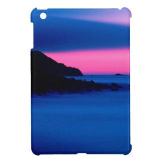 ピンク/青い海の日没の景色のiPad Miniケース iPad Mini カバー