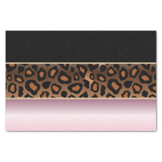 ピンク、黒およびジャガーのプリント 薄葉紙