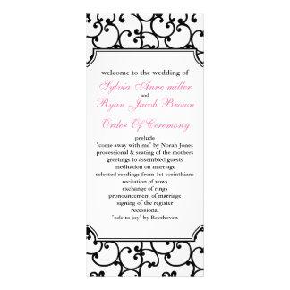 ピンク|黒|結婚|プログラム カスタムラックカード