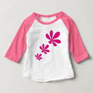 ピンクflower5 ベビーTシャツ