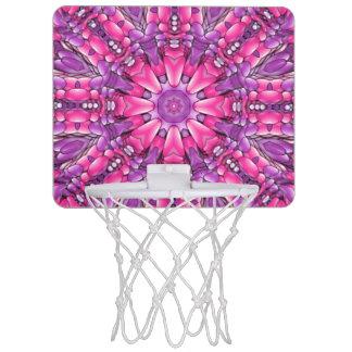 ピンクnの紫色のヴィンテージの万華鏡のように千変万化するパターンのバスケットボールたが ミニバスケットボールゴール