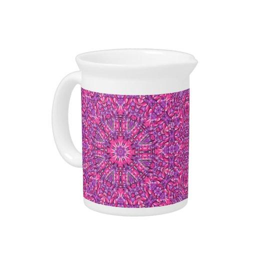 ピンクnの紫色の水差し ピッチャー