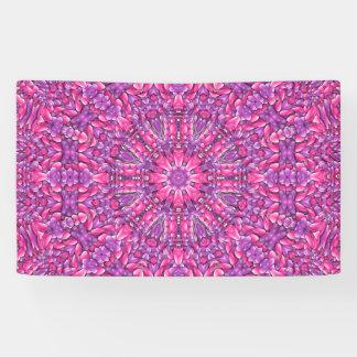 ピンクnの紫色の   旗、4つのサイズ 横断幕