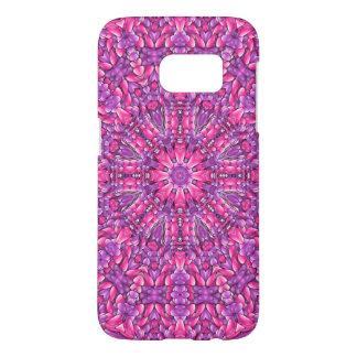 ピンクn紫色のSamsungの銀河系S7の箱 Samsung Galaxy S7 ケース