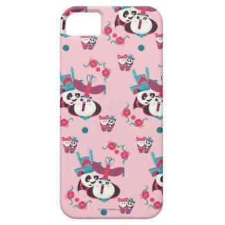 ピンクPoおよびMei Meiパターン iPhone SE/5/5s ケース