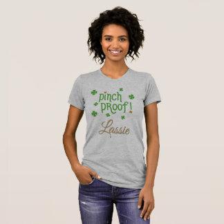 ピンチ証拠の少女;ラッシーのTシャツ Tシャツ