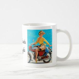 ピンナップのオートバイ コーヒーマグカップ