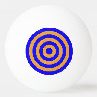 ピンポン球の-青及びオレンジ円 卓球ボール
