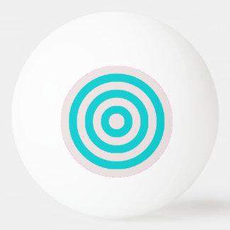 ピンポン球-クリームおよびターコイズの円 卓球ボール