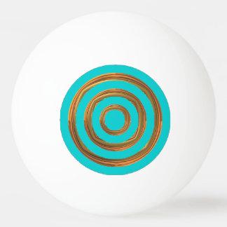ピンポン球-ターコイズ及び荒い金ゴールドの円 卓球ボール