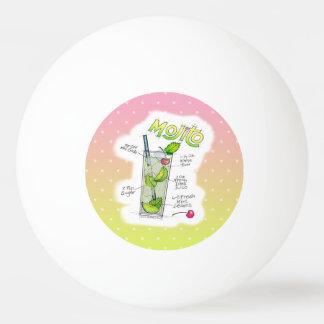 ピンポン球- MOJITOのレシピのカクテルの芸術 卓球ボール