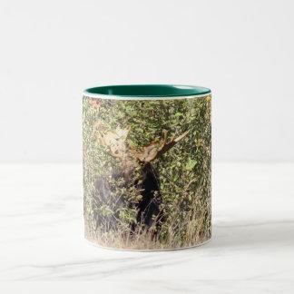 ピーカーブ式アメリカヘラジカのマグ ツートーンマグカップ